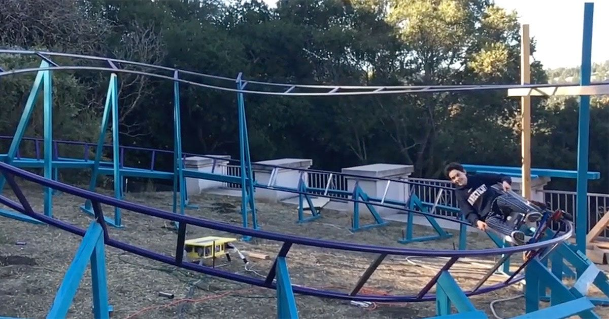 Backyard Roller Coaster Will Pemble Builds Amazing Gift
