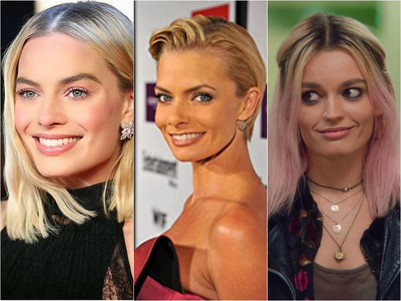 Famous doppelgangers - Jaime Pressly, Margot Robbie, and Emma Mackey